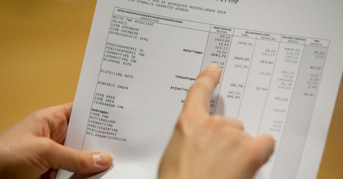 De loonstrook: 5 punten waarop het vaak mis gaat bij inkomensregistratie